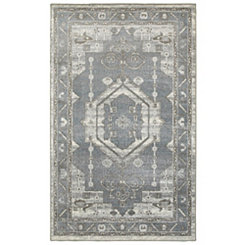 Gray Medallion Area Rug, 8x10