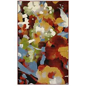Distressed Multicolor Abstract Area Rug, 8x10