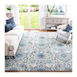 Blue and Gray Madison Medallion Area Rug, 8x10
