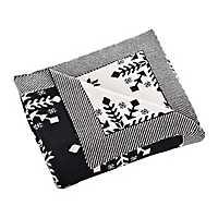 Black and Cream Snowflake Sweater Throw