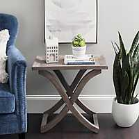Solid Wood X-Bottom Side Table