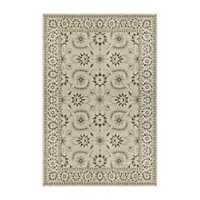 Ivory and Gray Richland Oriental Area Rug, 5x8