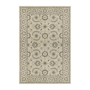 Ivory and Gray Richland Oriental Area Rug, 7x10
