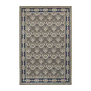 Navy and Gray Richland Oriental Area Rug, 7x10
