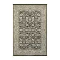 Brown and Ivory Richland Oriental Area Rug, 5x8