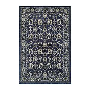 Gray and Navy Richland Abstract Area Rug, 7x10