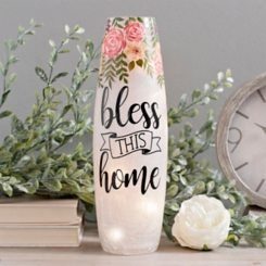 Bless this Home Floral Night Light