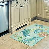 Sea Serenade Memory Foam Kitchen Mat