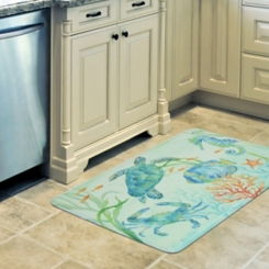 Sea Serenade Memory Foam Kitchen Mat