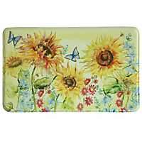 Watercolor Sunflower Memory Foam Kitchen Mat