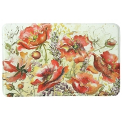 Poppy Fields Memory Foam Kitchen Mat