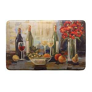 Afternoon Wine Memory Foam Kitchen Mat