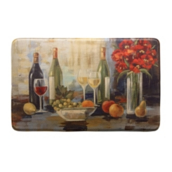 Afternoon Wine Memory Foam Kitchen Mat