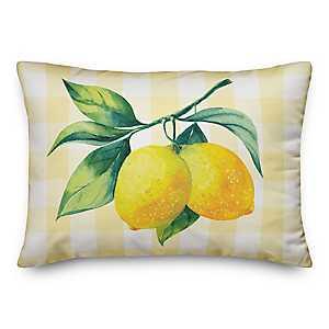 Buffalo Check Lemon Outdoor Pillow