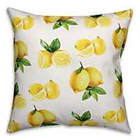 Bright Yellow Lemons Outdoor Pillow
