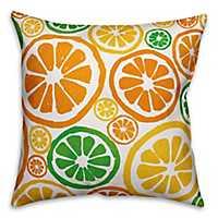 Bright Citrus Outdoor Pillow