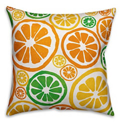 Bright Citrus Outdoor Pillow