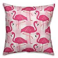 Pink Buffalo Check Flamingo Outdoor Pillow