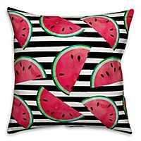 Watercolor Watermelon Outdoor Pillow
