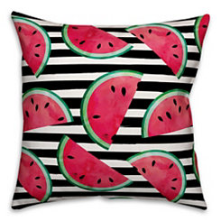 Watercolor Watermelon Outdoor Pillow