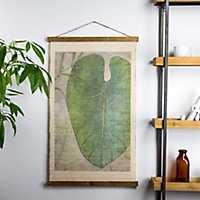 Taro Leaf Scroll Tapestry