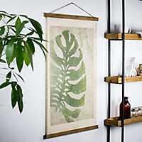 Green Taro Scroll Tapestry