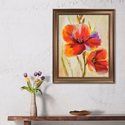 Fluorescent Blooms Framed Art