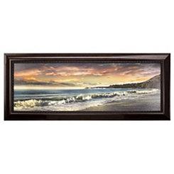 Warm Sunset Framed Canvas Art
