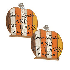 Tabletop Gather Together Pumpkins, Set of 2