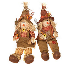 Harvest Scarecrow Shelf Sitters, Set of 2