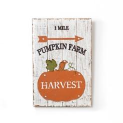 Cream and Orange Pumpkin Farm Plaque
