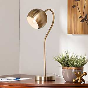 Antique Brass Gooseneck Desk Lamp