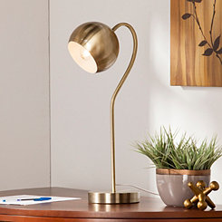 Antique Brass Gooseneck Desk Lamp