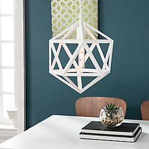 Geometric White Pendant Light