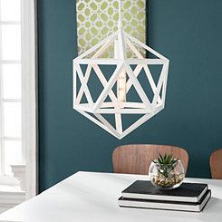 Geometric White Pendant Light