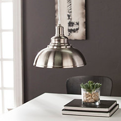 Brushed Nickel Arched Bell Pendant Light