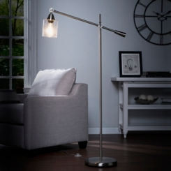 Brushed Nickel Adjustable Arm Floor Lamp