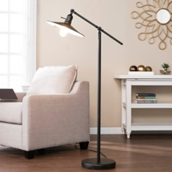 Black Lever Tilt with Edison Bulb Floor Lamp
