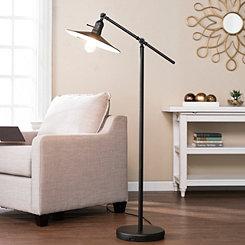 Black Lever Tilt with Edison Bulb Floor Lamp