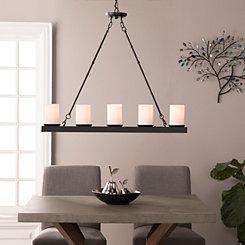 Linear 5-Light Matte Black Pendant Light