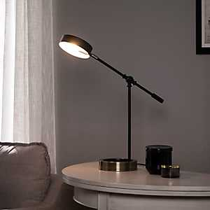 Adjustable Swivel Black Disk Shade Desk Lamp
