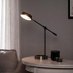 Adjustable Swivel Black Disk Shade Desk Lamp
