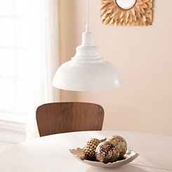 Matte White Arched Bell Pendant Light