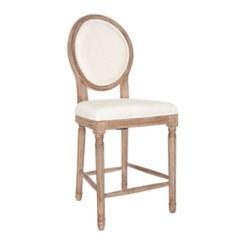 Louis Ivory Weathered Counter Stool