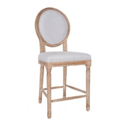Louis Gray Weathered Counter Stool
