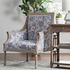 Mckenna Blue Fl Accent Chair