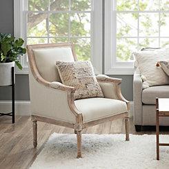 Mckenna Solid Cream Accent Chair