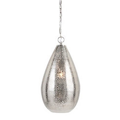 Jago Silver Metallic Tear Drop Pendant Light