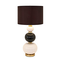 Ava Alternating Cream and Smoke Orbs Table Lamp