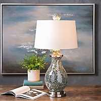 Kayla Glittering Glass Mosaic Table Lamp